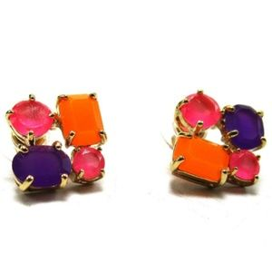 Kate Spade Gold Tone Colorful Post Earrings NEW!